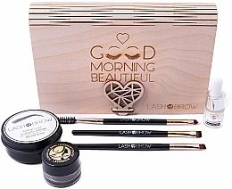 Set - Lash Brown Morning Beautiful (brow soap/50g + brow oil/6ml + eyebrow pomade/7g + brush/3pcs) — photo N1