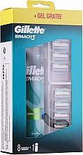 Fragrances, Perfumes, Cosmetics Set - Gillette Mach 3 (8 refill cassette + gel/200ml)