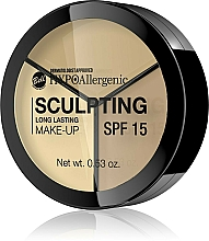 Fragrances, Perfumes, Cosmetics Face Contour Palette - Bell HypoAllergenic Long Lasting Sculpting Make-Up SPF 15