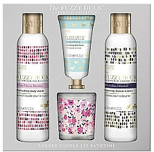 Fragrances, Perfumes, Cosmetics Set - Baylis & Harding The Fuzzy Duck Cotswold Floral Candle Set (sh/gel/250ml + b/lot/250ml + h/cr/30ml + candle/60g)