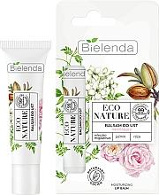 Fragrances, Perfumes, Cosmetics Lip Balm - Bielenda Eco Nature Almond Milk, Jasmine & Rose Moisturizing Lip Balm