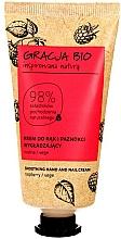 Fragrances, Perfumes, Cosmetics Smoothing Hand Cream with Raspberry Extract - Gracja Bio Raspberry Hand And Nail Cream