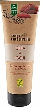 Fragrances, Perfumes, Cosmetics Chia & Goji Shower Gel - Aura Naturals Chia & Goji Body Wash