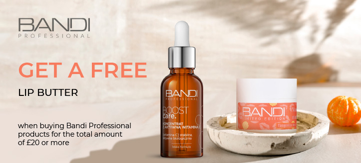 Get a free lip butter when buying Bandi Professional products for the total amount of £20 or more