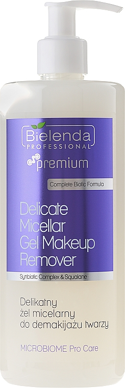 Micellar Gel Makeup Remover - Bielenda Professional Microbiome Pro Care Delicate Micelar Gel Makeup Remover