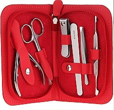 "Fragrances, Perfumes, Cosmetics Manicure Set, ""Multi"", MS-10, 6-piece, red - Staleks Manicure Set"