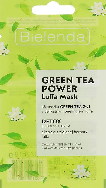 Face Mask - Bielenda Green Tea Power Luffa Mask 2in1