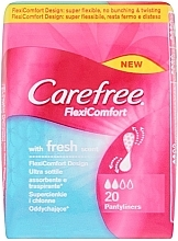 Fragrances, Perfumes, Cosmetics Hygienic Daily Pads, 20pcs - Carefree FlexiComfort Fresh Scent Pantyliners
