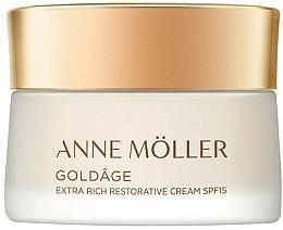 Fragrances, Perfumes, Cosmetics Regenerating Facial Cream - Anne Moller Goldage Extra Rich Restorative Cream SPF15