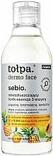 Fragrances, Perfumes, Cosmetics Micro Exfoliating Facial Toning Essence - Tolpa Dermo Face Essence-Tonic