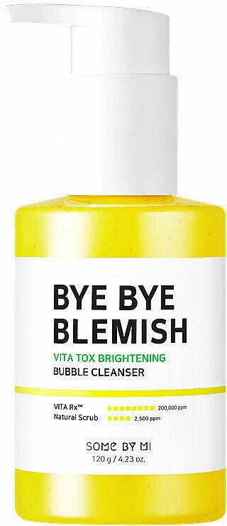 Brightening Glow Peel-Off Mask - Some By Mi Bye Bye Blemish Vita Tox Brightening Bubble Cleanser