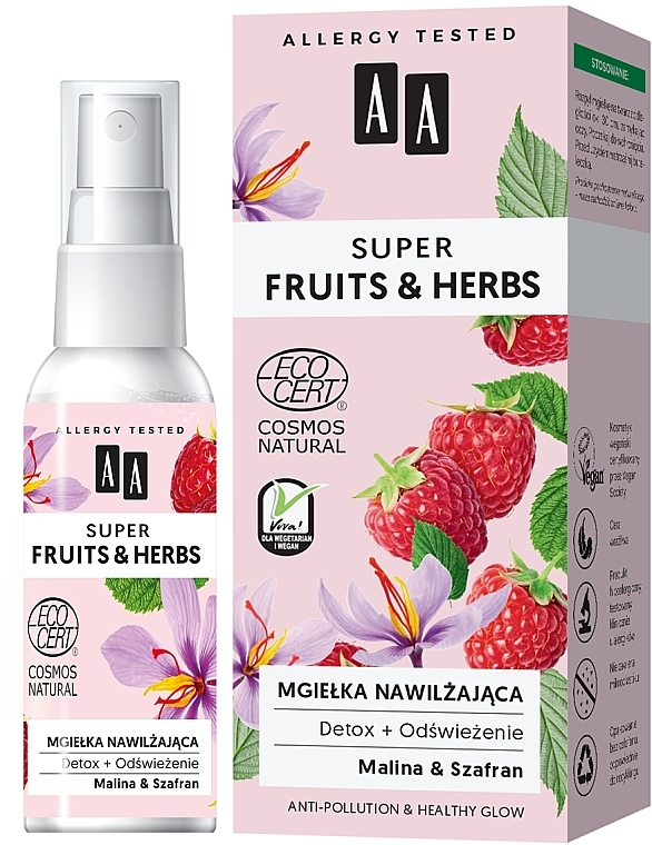 Moisturizing Face Mist - AA Super Fruits & Herbs