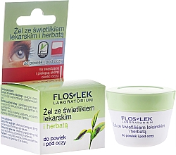 Fragrances, Perfumes, Cosmetics Lid and Under Anti-Aging Eye Gel with Eyebright and Green Tea - Floslek Lid And Under Eye Gel With Eyebright And Green Tea