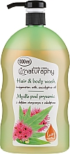 Fragrances, Perfumes, Cosmetics Shower Gel-Shampoo for Eucalyptus Oil - Bluxcosmetics Naturaphy Eucalyptus Oil Hair & Body Wash
