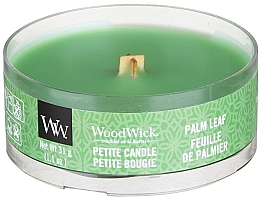 Fragrances, Perfumes, Cosmetics Scented Candle in Glass - Woodwick Petite Candle Palm Leaf