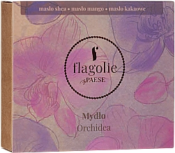 "Fragrances, Perfumes, Cosmetics Hand & Body Natural Soap ""Orchid"" - Flagolie by Paese Cranberry"