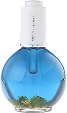 Fragrances, Perfumes, Cosmetics Nail & Cuticle Oil with Flowers - Silcare Coconut Sea Blue