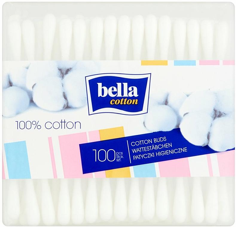 Rectangular Cotton Buds, 100 pcs - Bella