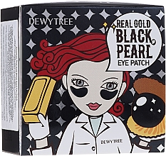 Fragrances, Perfumes, Cosmetics Gold & Black Pearl Eye Patches - Dewytree Real Gold Black Pearls Eye Patch