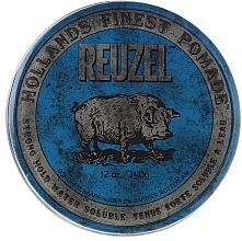 Fragrances, Perfumes, Cosmetics Hair Styling Pomade - Reuzel Blue Strong Hold Water Soluble High Sheen Pomade