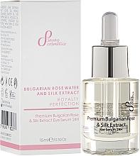 Fragrances, Perfumes, Cosmetics Eye Repair Serum - Sayaz Cosmetics Premium Bulgarian Rose & Silk Extract Eye Serum 24H