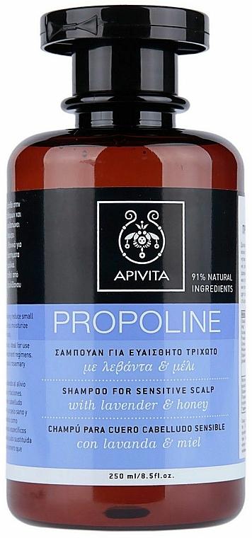Lavender & Honey Hair Shampoo - Apivita Shampoo For Sensitive Scalp With Lavender & Honey