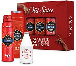 Fragrances, Perfumes, Cosmetics Set - Old Spice Captain Creation Trio (sh/gel/250ml +deo/150ml + ash/lot/100ml)