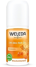 "Fragrances, Perfumes, Cosmetics Roll-On Deodorant ""Sea Buckthorn"" - Weleda 24h Sanddorn Deodorant Roll-On"