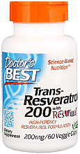Fragrances, Perfumes, Cosmetics Trans-Resveratrol with ResVinol, 200mg, capsules - Doctor's Best