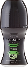 Fragrances, Perfumes, Cosmetics Antiperspirant-Deodorant - Avon On Duty Men Fresh 48H Anti-persrirant Roll-On