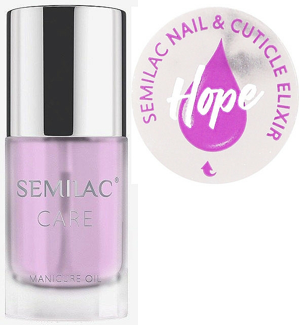 Nail & Cuticle Oil-Elixir Scented with Jasmine and Lily - Semilac Care Nail & Cuticle Elixir Hope