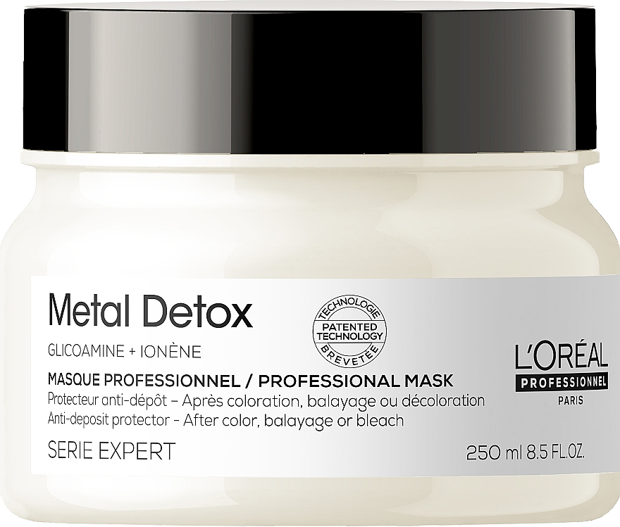 Anti-Deposit Protector Mask after Color, Balayage or Bleach - L'Oreal Professionnel Metal Detox Anti-deposit Protector Mask — photo N1