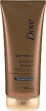 Fragrances, Perfumes, Cosmetics Bronzing Body Lotion - Dove Derma Spa Summer Revived Medium To Dark Skin Body Lotion