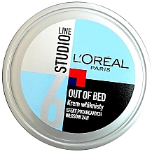 Fragrances, Perfumes, Cosmetics Modeling Hair Cream - L'Oreal Paris Studio Line Out of Bed Cream