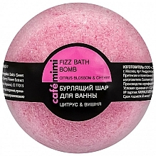 "Fragrances, Perfumes, Cosmetics Fizzy Bath Bomb ""Citrus & Cherry"" - Cafe Mimi Bubble Ball Bath"
