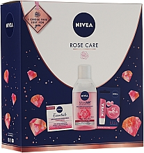 Fragrances, Perfumes, Cosmetics Set - Nivea Rose Care (lip/balm/5.5ml + cr/50ml + micellar/water/400)