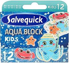 Fragrances, Perfumes, Cosmetics Kids Plasters - Salvequick Aqua Block Kids Slices
