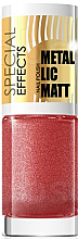 Fragrances, Perfumes, Cosmetics Nail Polish - Eveline Cosmetics Special Effects Metallic Matt
