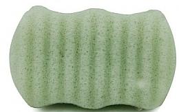 "Fragrances, Perfumes, Cosmetics Face & Body Sponge ""Green Tea"" - Bebevisa Konjac Sponge"