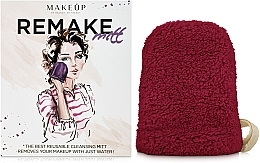 "Fragrances, Perfumes, Cosmetics Makeup Remover Glove, burgundy ""ReMake"" - MakeUp"