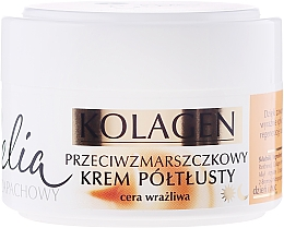 Fragrances, Perfumes, Cosmetics Anti-Wrinkle Face Cream for Sensitive Skin - Celia Collagen Cream