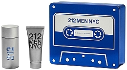 Fragrances, Perfumes, Cosmetics Carolina Herrera 212 Men NYC - Set (edt/100ml + sh/gel100ml)