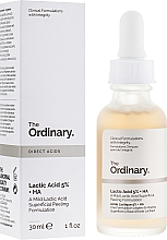 Fragrances, Perfumes, Cosmetics Lactic Acid Face Peeling - The Ordinary Lactic Acid 5% + HA 2%