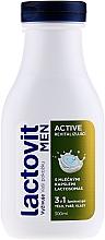 Fragrances, Perfumes, Cosmetics Shower Gel for Men 3 in 1 - Lactovit Men Active 3v1 Shower Gel