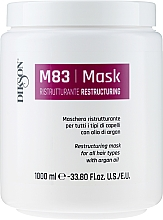 Fragrances, Perfumes, Cosmetics Regenerating Mask for All Hair Types with Argan Oil - Dikson M83 Restructuring Mask