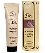 Fragrances, Perfumes, Cosmetics Moisturizing Cream 'Sandalwood' - Taylor of Old Bond Street Sandalwood Moisturising Cream
