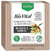 Fragrances, Perfumes, Cosmetics Moisturizing Face & Neck Cream 35+ - DeBa Bio Vital Hydrating Face and Neck Cream