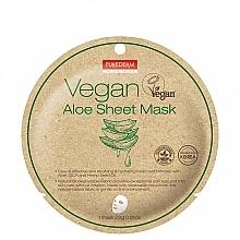 Fragrances, Perfumes, Cosmetics Aloe Sheet Mask - Purederm Vegan Sheet Mask Aloe