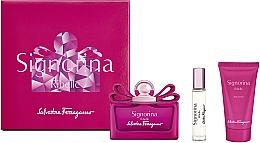 Fragrances, Perfumes, Cosmetics Salvatore Ferragamo Signorina Ribelle - Set (edp/100ml +edp/10ml+ b/lot/50ml)