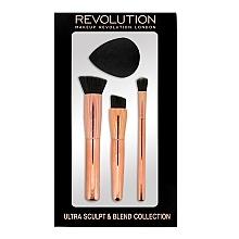 Fragrances, Perfumes, Cosmetics Sculpt Sponge & Brush Set - Makeup Revolution Ultra Sculpt & Blend Sponge Brush Collection